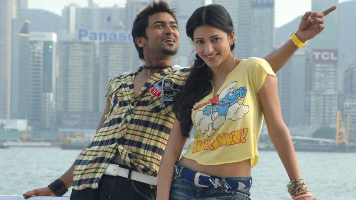 Shruti Haasan And Surya In Yellow Dress – 7aum Arivu Movie